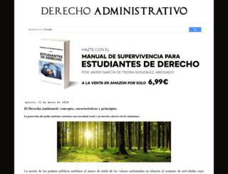 derecho-administrativo.com screenshot