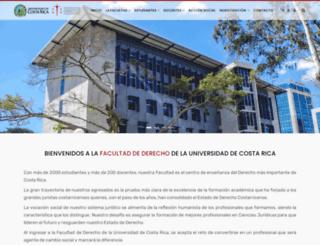 derecho.ucr.ac.cr screenshot