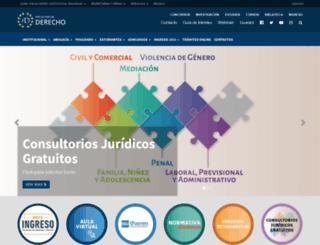 derecho.uncuyo.edu.ar screenshot