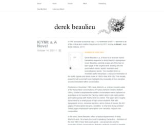 derekbeaulieu.wordpress.com screenshot