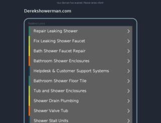 derekshowerman.com screenshot