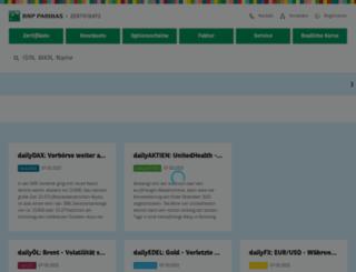 derivate.bnpparibas.com screenshot