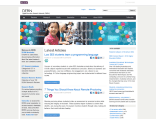 dern.org.au screenshot