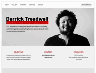 derricktreadwell.com screenshot