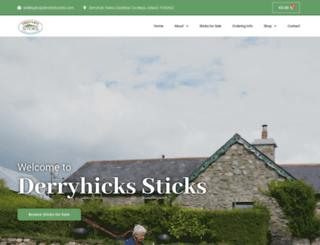 derryhicksticks.com screenshot