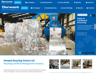 derwentrecyclingservices.co.uk screenshot