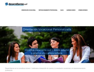 desarrollarme.com screenshot