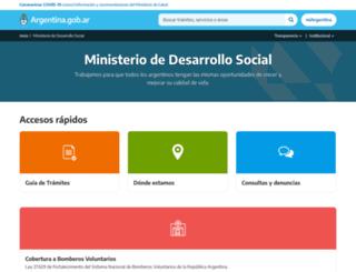 desarrollosocial.gob.ar screenshot