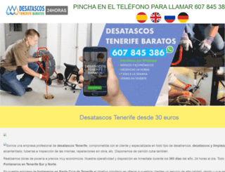 desatascostenerifebaratos.com screenshot