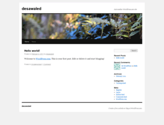 desawaled.wordpress.com screenshot