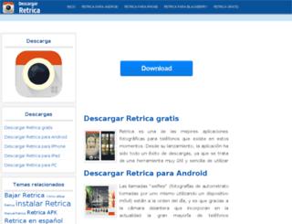descargarretrica.com screenshot