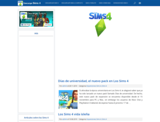 descargarsims4.com screenshot