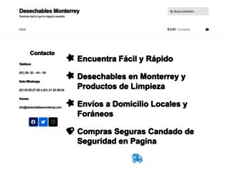 desechablesmonterrey.com screenshot