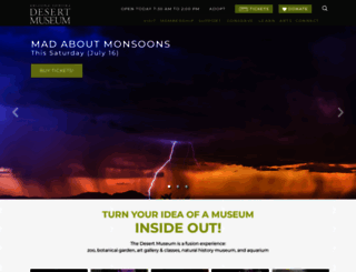 desertmuseum.org screenshot