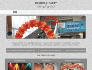 designaparty.co.uk screenshot