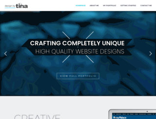 designbytina.co.za screenshot