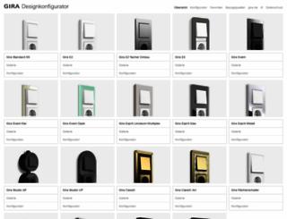 designconfigurator.gira.com screenshot