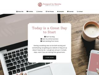 designedbymarsha.com screenshot