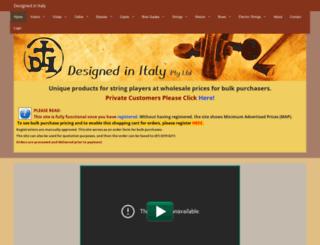 designedinitaly.com.au screenshot
