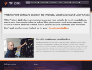 designer.print-science.com screenshot