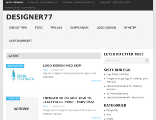 designer77.no screenshot