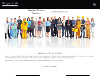designercode.com.au screenshot