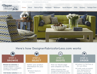 designerfabricsforless.com screenshot