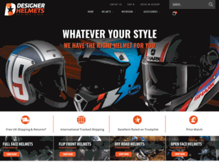designerhelmets.com screenshot