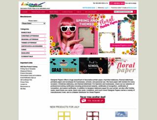 designerpapers.com screenshot