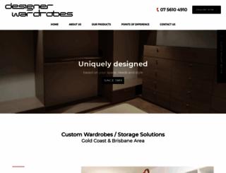 designerwardrobes.com.au screenshot