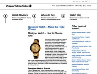 designerwatchesonline.net screenshot