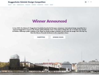 designguggenheimhelsinki.org screenshot