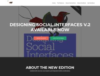 designingsocialinterfaces.com screenshot