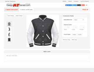 designmyjacket.com screenshot