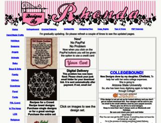 designsbyrhonda.com screenshot