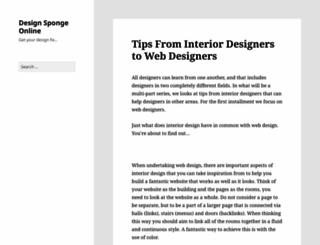 designspongeonline.com screenshot