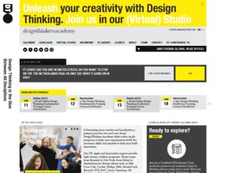 designthinkersacademy.com screenshot