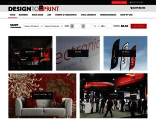 designtoprint.com screenshot