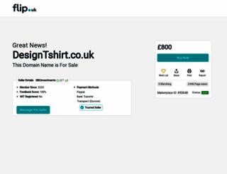 designtshirt.co.uk screenshot