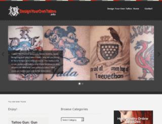 designyourowntattoo.info screenshot