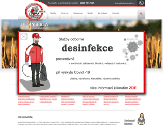 desinsekta.cz screenshot