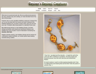 desiredcreations.com screenshot