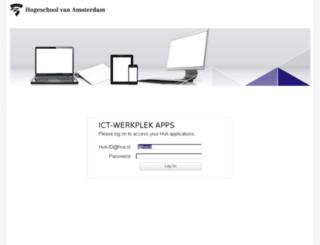 desktop.hva.nl screenshot