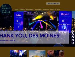 desmoinesartsfestival.org screenshot