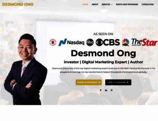 desmondong.com screenshot