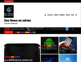 desnewsenseries.fr screenshot