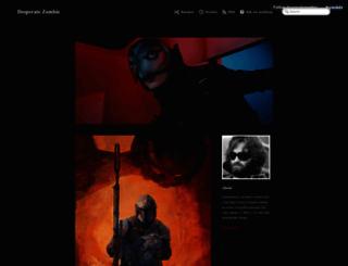 desperatezombie.com screenshot