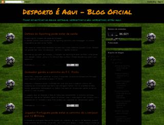desportoesoaqui.blogspot.pt screenshot