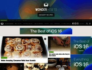 dessert-recipes.wonderhowto.com screenshot