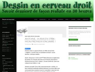 dessin-cerveau-droit.fr screenshot